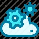 cloud, configuration, gear, online, service, setting, settings