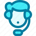 man, agent, call, support, avatar, customer support, customer service icon