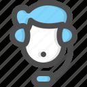 customer service, man, avatar, support, agent, call, center icon