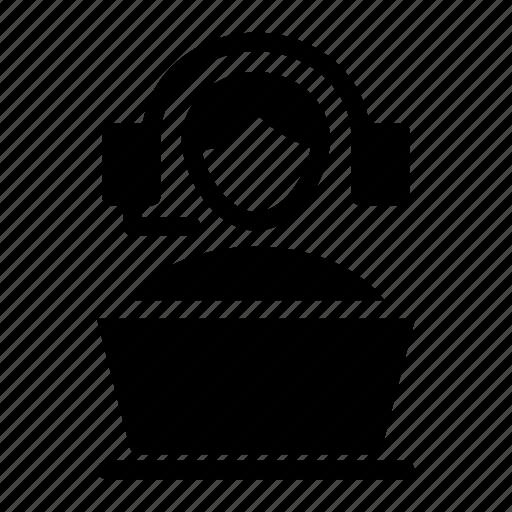 headphones, help, service, support icon