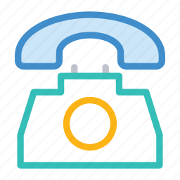 call, communication, landline, phone icon
