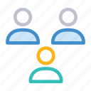 client, customer, representative, users icon