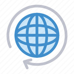 earth, global, reload, world icon