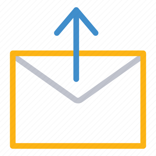 email, mail, mesage, upload icon