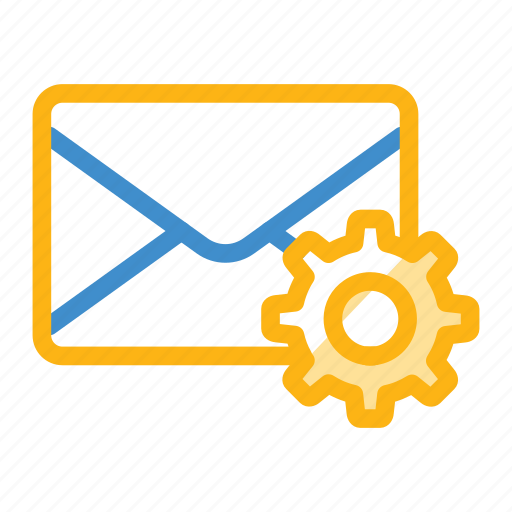 config, email, message, setting icon