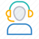 headphone, help, services, support icon