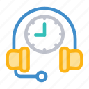 help, services, support, time icon