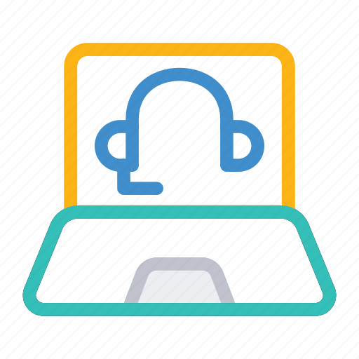 laptop, online, services, support icon