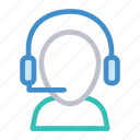 headphones, help, services, support icon