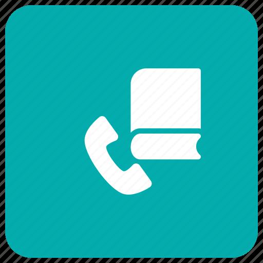 book, call, phone, record icon