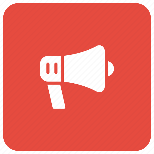 advertisement, marketing, megaphone, speaker icon
