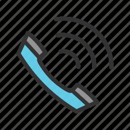 calling, communication, mobile, phone, technology, wireless icon