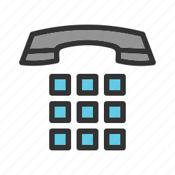communication, dial, dialing, office, phone, support, telephone icon