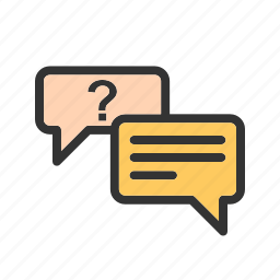 answer, chat, conversation, mark, question, sign, speech icon