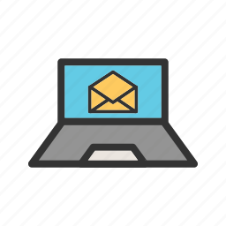 business, computer, email, emails, internet, laptop, office icon