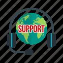 center, communication, global, globe, support, world