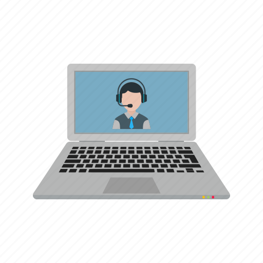 call, camera, conference, laptop, phone, video, webcam icon