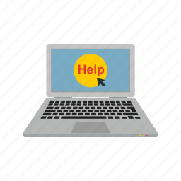 business, computer, help, laptop, technology, work icon