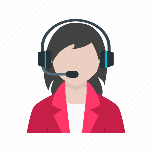 Call, center, customer, female, people, representative, service icon - Download on Iconfinder