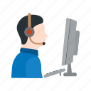 call, center, customer, headset, operator, phone, support