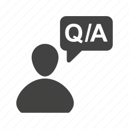 answer, business, communication, information, question, sign icon