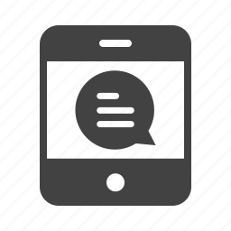 cell, message, mobile, phone, screen, sms, text icon
