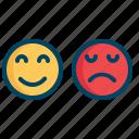 customer, emoji, emoticon, expression, face, sad, smiley