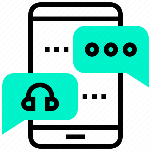 application, customer, mobile, online, service icon