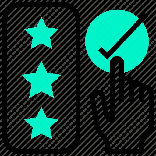 level, point, satisfaction, scoring, star icon