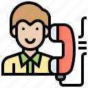 call, customer, relation, service, support icon