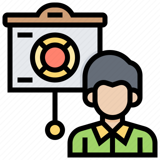 customer, explain, give, information, support icon