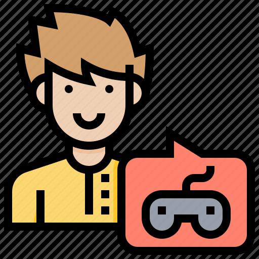 client, customer, male, request, service icon