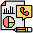 call, performance, report, service, statistics icon