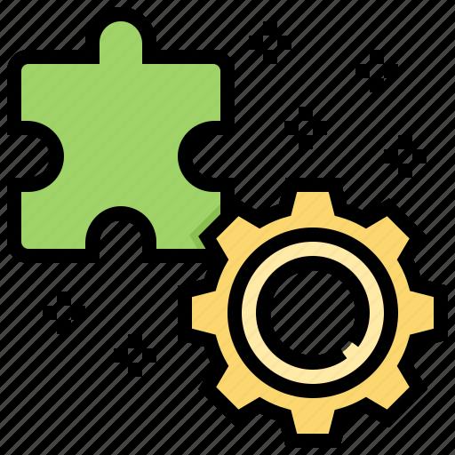 problem, process, solution, solve, trouble icon