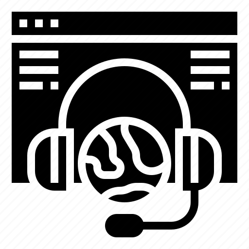 customer, internet, olnine, service, website icon
