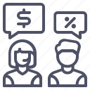 customer, help, conversation, discussion, price, discount, support icon