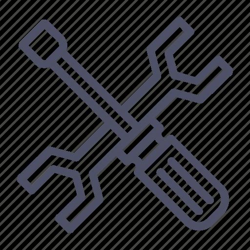 fix, maintenance, management, repair, screwdriver, service, wrench icon