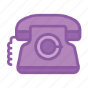call, communication, landline, phone, telephone icon