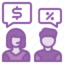 customer, discount, discussion, help, price, service, support icon