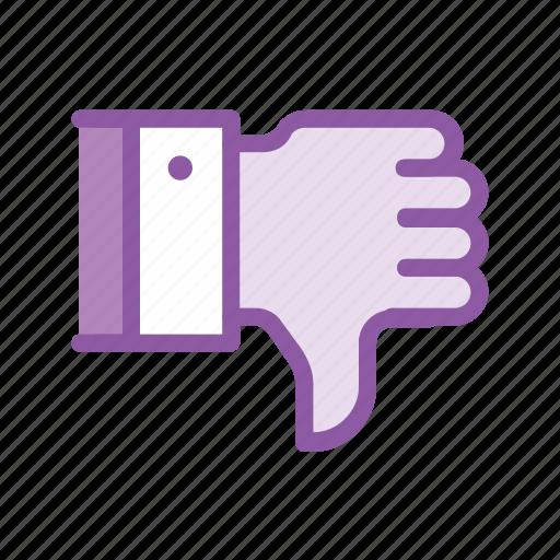 bad, dislike, feedback, review, service, thumbsdown icon