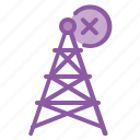 antenna, communication, error, netwrok, range, signal icon