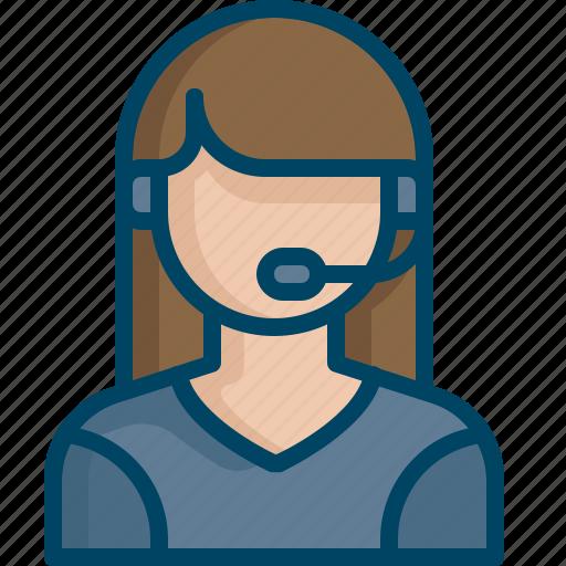 care, consultant, customer, female, help, service, support icon
