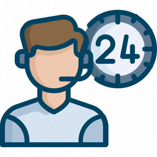 allday, customer care, help, man, representative, service, support icon