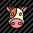 cartoon, animal, cute, modern, cow