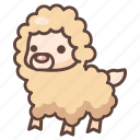 alpaca, animal, cartoon, cute, lama, llama, mammal icon