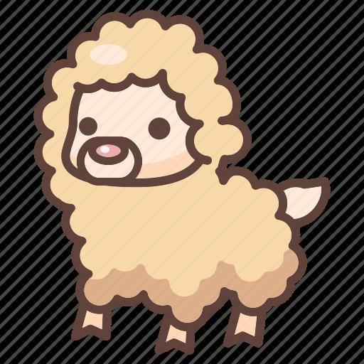 alpaca, animal, cartoon, cute, lama, llama, mammal icon