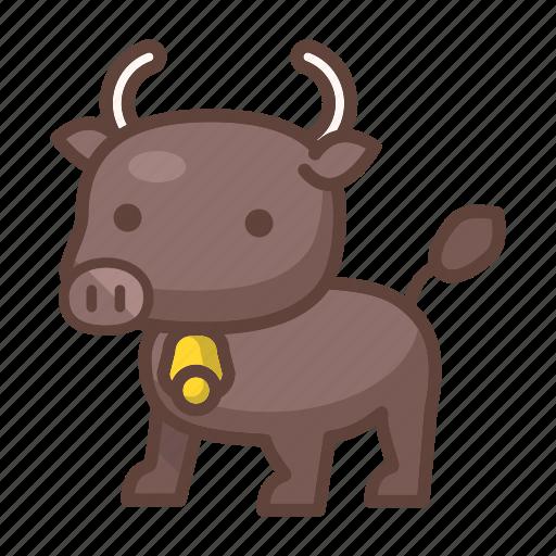 animal, bison, buffalo, bull, cow, horn, mammal icon