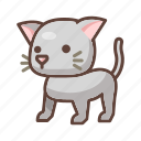 animal, cartoon, cat, cute, feline, kitten, pet icon