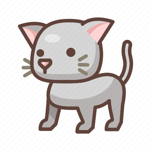 animal, cartoon, cat, cute, feline, kitten, pet icon