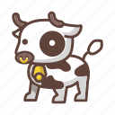 animal, bull, cartoon, cow, farm, mammal, milk icon